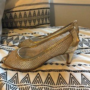 Adrianna Papell sparkle wedding heels